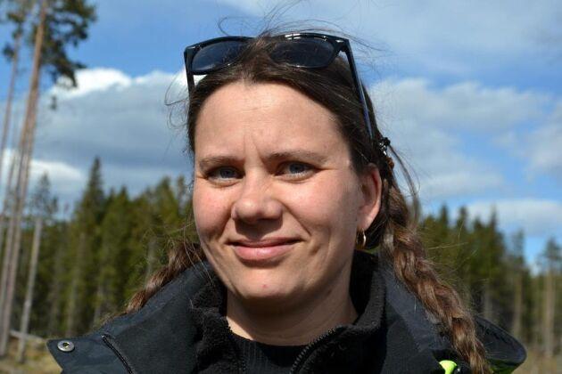 Catrin Sandberg är arkeolog på Skogsstyrelsen i Västra Götaland.
