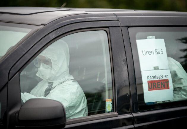 Myndigheterna ankommer till Thorbjørn Jepsens minkfarm för att avliva farmens minkar. Uppemot en miljon minkar avlivas i Danmark på grund av coronasmitta.
