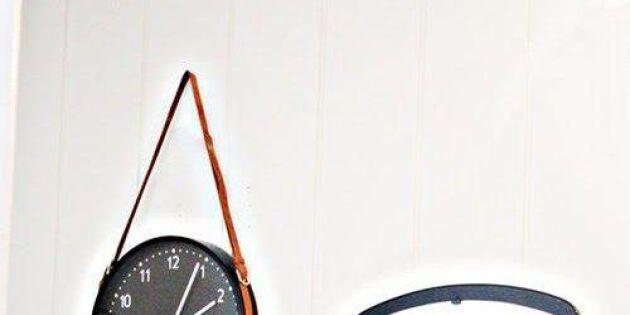Skärp klockan med läder