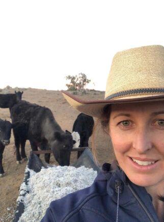 Bonden Lucy Gallagher driver gården tillsammans med maken Gerard sedan drygt tio år tillbaka.