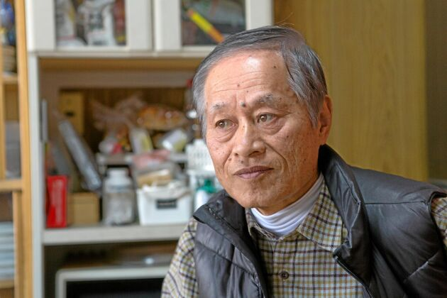 Jordbrukaren Hisataka Suto.