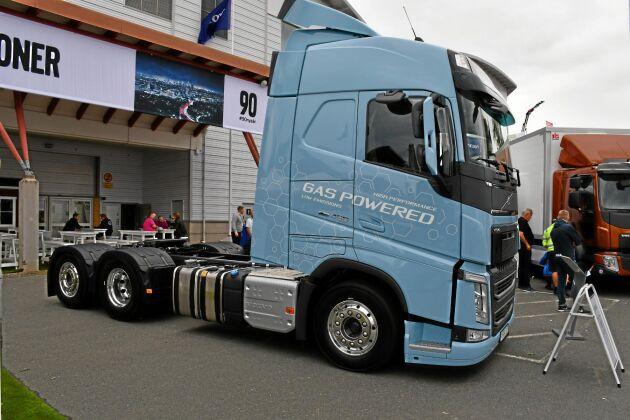 Gasdrift är hett. Här är Volvos gasbil som med flytande biogas som är helt koldioxidneutral.