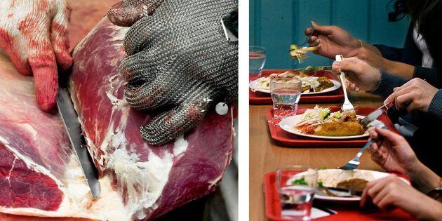 Skolkök dras ofrivilligt in i slakteriskandalen