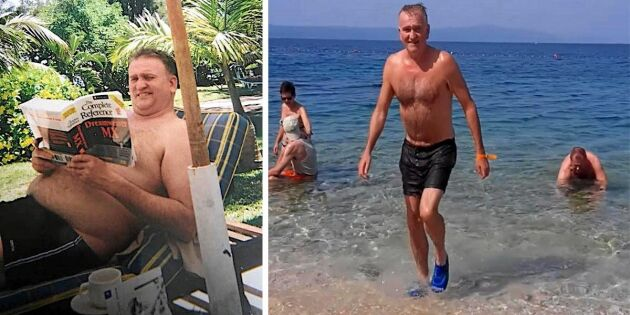 Diabetessjuke Thomas gick ned 35 kilo – och blev symtomfri