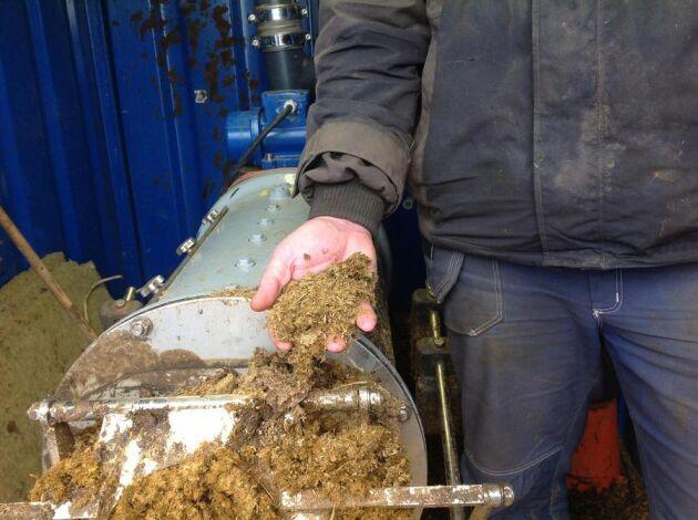 Det separerade kogödslet är torrt och nästan helt luktfritt.