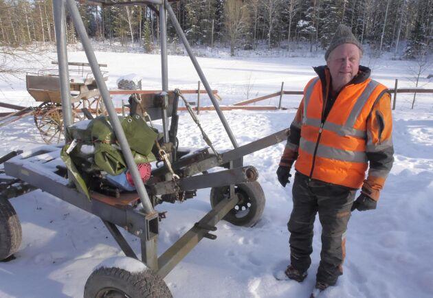Kjell Andersson har alltid varit intresserad av att experimentera med skogs- och jordbruksredskap.