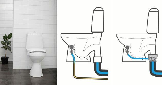 Urinsorterande eller vattensparande, välj om du vill ansluta toaletten till en tank eller till det vanliga kommunala avloppsystemet.
