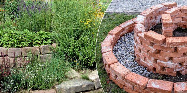 Så anlägger du en örtspiral – supersmart odling på liten yta