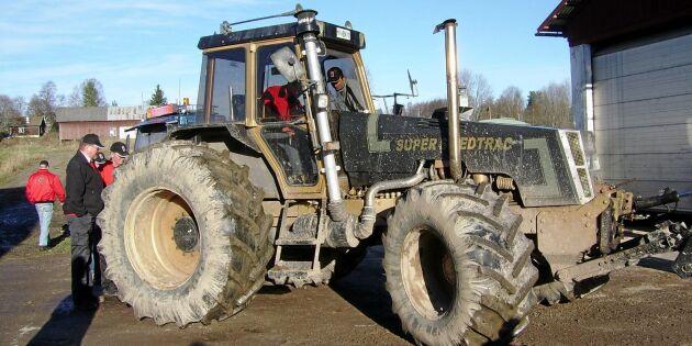Den svenskbyggda Formel 1-traktorn