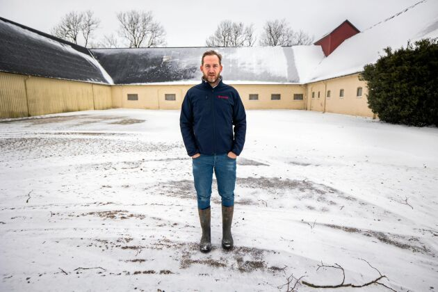"""Potatislagerhuset var en investering på närmare åtta miljoner kronor. Nu ligger fokus på att finslipa driften. """"Lönsamheten i potatisodling är okej, men marginalerna är små"""", säger Fredrik Sassner."""