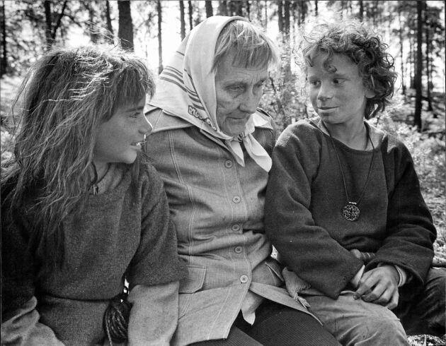 Ronja, Astrid och Birk.