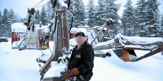 Nisse har en unik samling - grävmaskiner!