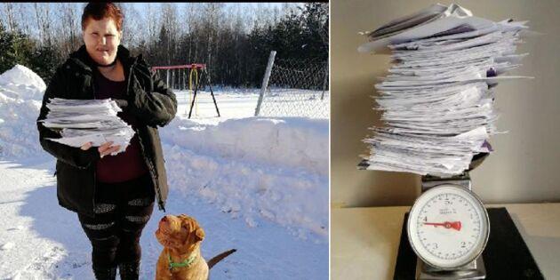 Väntade på posten i flera år – fick brevbunt på fyra kilo