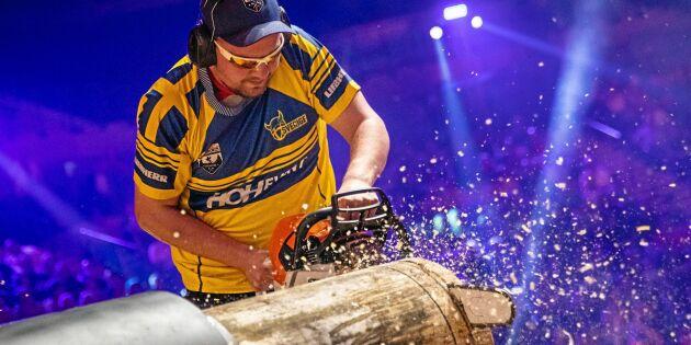 Åttondeplats för Sverige i Timbersports-VM