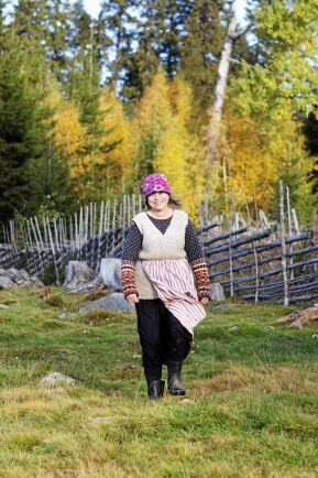 Yvonne i en av sina hagar som hon och hennes förre man röjde fram.