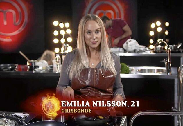 """Emilia Nilsson fick jobba på sitt fokus vid de olika tävlingsmomenten i Sveriges Mästerkock. """"Jag blev verkligen taggad men fick se till att jag andades och skötte mitt."""""""