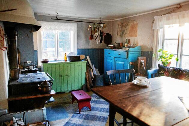 Köket är kvar i samma skick som 1920. Hit återvände Dan Anderssons dotter Monika många gånger som vuxen.
