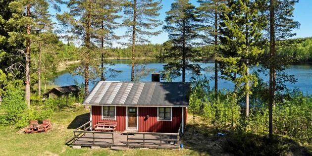 Hel sjö till salu i Skellefteå – jakträtt och två stugor ingår