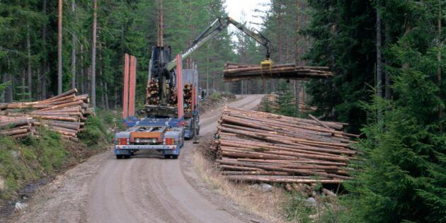 Risk att skadat virke blir kvar i skogen