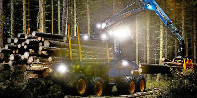 Bättre belysning på skogsmaskiner