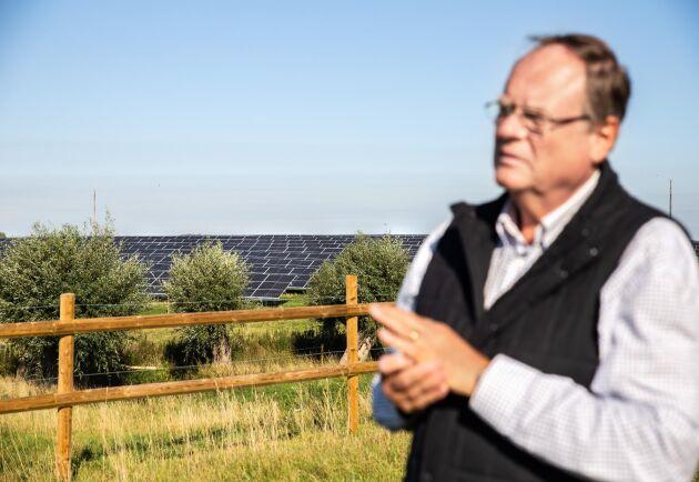 Jörgen Mattsson ser att även den generationen som driver gården efter honom kommer att ha nytta av investeringen.