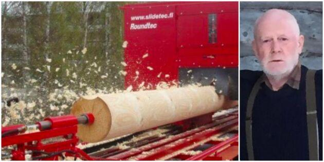 Maskinen som svarvar en stock i halvtimmen