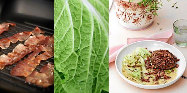 Gör högrevsfärsbiffar med bacon – godaste middagsmyset