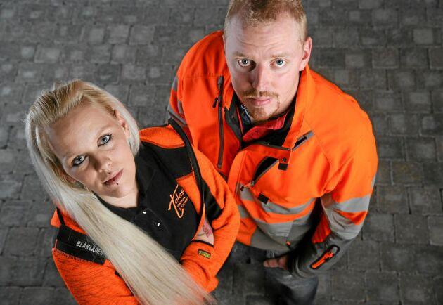 Emelie Jonstad med sin bror och kompanjon Rasmus Samuelsson.