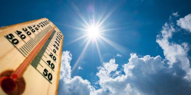 """Värmerekord på flera orter i helgen: """"Mycket unikt"""""""