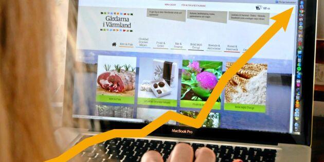 Mat på nätet kan bli kassako för bönder