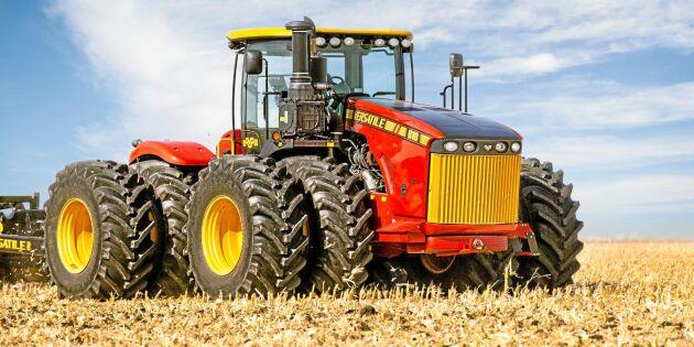 5. Versatile 610DT. Max 650 hk. Dragkraft 2779 Nm. Motor Cummins QSX15 T4F 14,9 liter. Bränsletank 1 700 liter. Totalvikt 27 669 kilo.