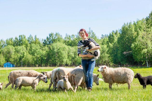 Elin hade samma dröm som Daniel och älskar livet som lammproducenter.