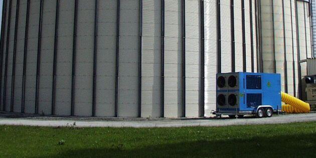 Mobil kylmaskin ska skydda spannmålen