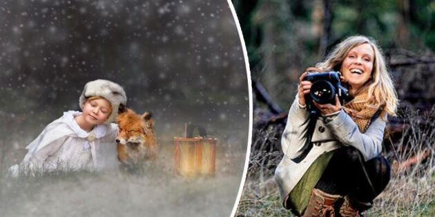 """Maria är sagofotograf: """"Gammelskogen är perfekt för fotografering"""""""