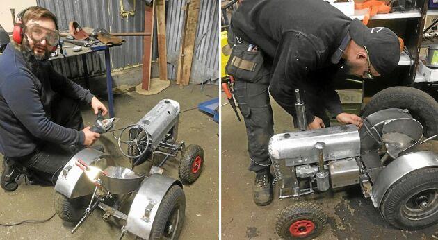 Bröderna Axel och Viktor Åström höjde ständigt ambitionsnivån i traktorbygget.