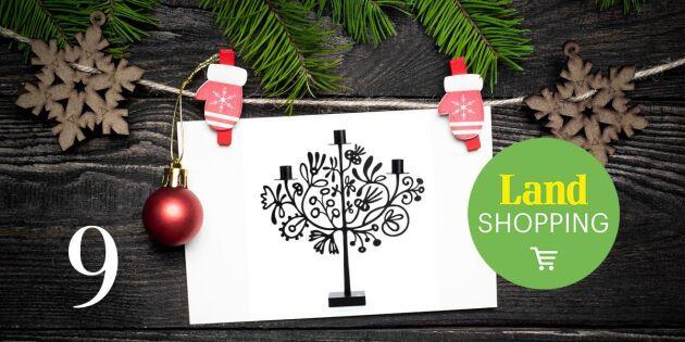 Julkalendern 2017: Unikt erbjudande på julens maffigaste ljusstake