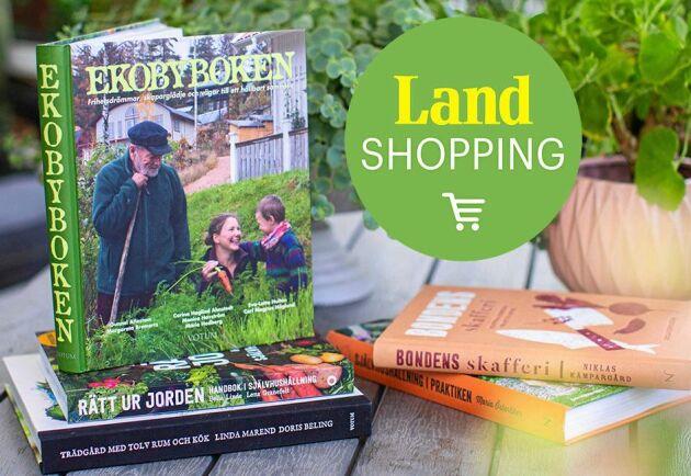 Hos Land Shopping hittar du en rad olika böcker om självhushållning.