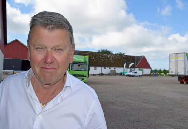 Per Nordmark odlar rucola på totalt 200 hektar på Södervidinge gård i Kävlinge.