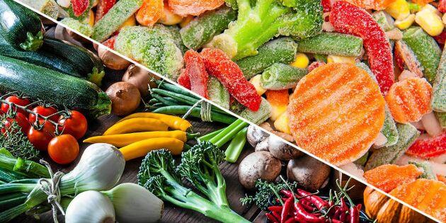 Färska eller frysta grönsaker? Här är nyttigaste valet