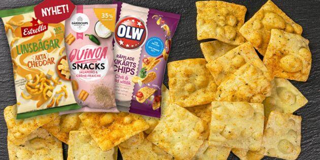 Hälsovåg i chipshyllan – linser nya favoriten
