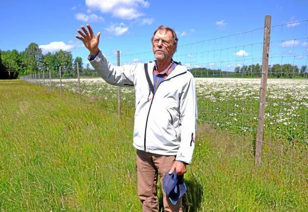 För åtta år sedan ifrågasattes Lars-Olof Larsson när han stängslade in sina 55 hektar åker. I dag har han svårt att se hur han skulle ha kunnat fortsätta med spannmål utan skydd mot viltet.