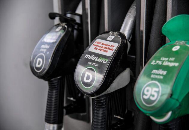 Det nya riktpriset på bensin är det lägsta i år, även om året inte hunnit vara igång så länge. Arkivbild.
