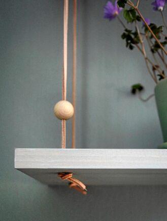 Träkulor används som extra dekoration.