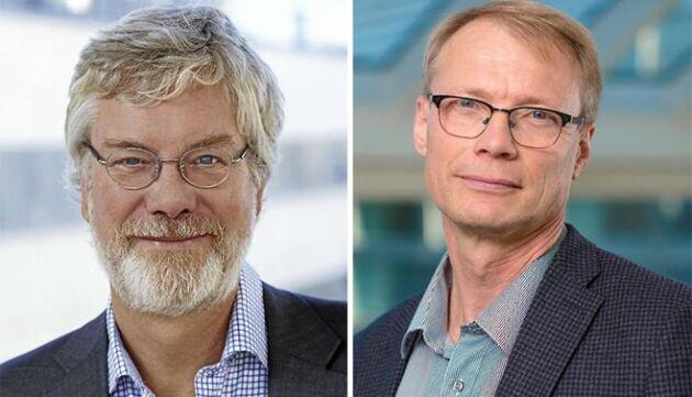 Staffan Moberg, Svensk Försäkring, och Johan Litsmark, Länsförsäkringar är överens om att många saknar försäkring för sin skog.