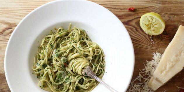 Underbar pasta med vitlök och olja – enklaste receptet!