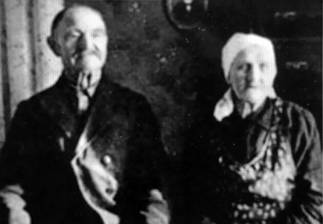 Vilhelm Mobergs pappa Karl Gottfrid och mamma Ida.