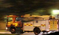 Polisingripande vid ladugårdsbrand i Ekerö