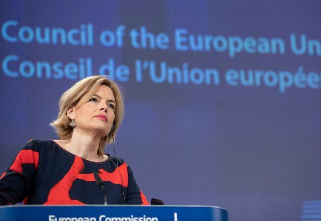 Julia Klöckner leder jordbruksministerrådet under Tysklands ordförandeskap.