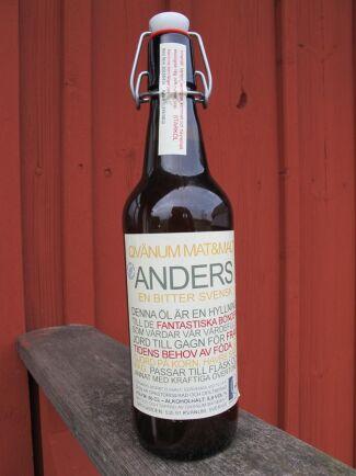 Anders Borgs uttalande i Land Lantbruk fick Qvänum Mat och malt att skapa en öl: Anders - en bitter svensk. Med ölen vill bryggeriet hylla svenska bönder.