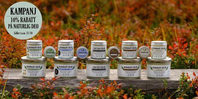 Saras naturliga gör succé deo – innehåller bara välkända ingredienser